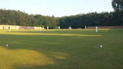 The walled garden makes a lovely ground to visit and play. Short boundaries for the slow bowler though...